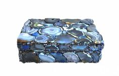 Large Blue Agate Box by Mecox Gardens. Shop online for home furniture and custom designs. Agate, Home Furniture, Custom Design, Decorative Boxes, Park Avenue, Blue, Gardens, Shop, Home Goods Furniture