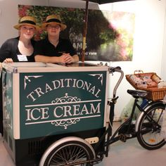 Lee's cream dreams - ice cream bicycle at the national wedding show