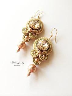 Earrings Golden Bahija от ElishaBoutique на Etsy