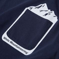White Mountaineering Mountain Print Pocket Tee (Navy)