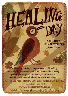 Healing Day at the Old Police Station this Saturday #LarkLane http://www.larklaneguide.com/event/healing-day/