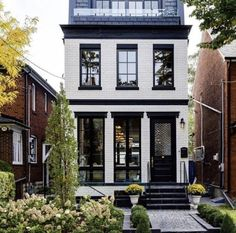 What style of architecture is this? - Extraordinary House Designs What style of architecture is this? What style of architecture is t - Style At Home, Townhouse Exterior, Townhouse Designs, Modern Townhouse, Moldings And Trim, Architecture, Decor Interior Design, My Dream Home, Exterior Design