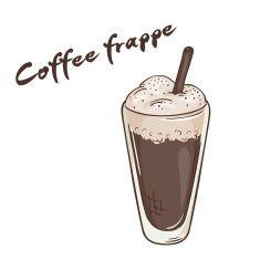 vector ilustración de imprimible frappe taza de café aislado vector art illustration