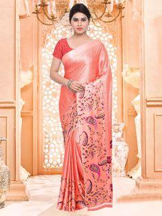 Peach Saree, Indian Beauty Saree, Sari, Womens Fashion, Saree, Women's Fashion, Woman Fashion, Saris, Sari Dress