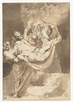 Graflegging, Peter Paul Rubens, 1615-1617; pen, 222x153mm