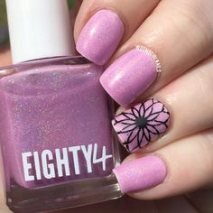 Eighty4 - Dear Mama #purple #lavender #floral #dumbgirlnails #nailart - bellashoot.com