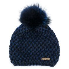 Norton pom pom hat (6.435 RUB) ❤ liked on Polyvore featuring accessories, hats, blue, blue hat, pompom hat, pom pom hats and blue pom pom hat