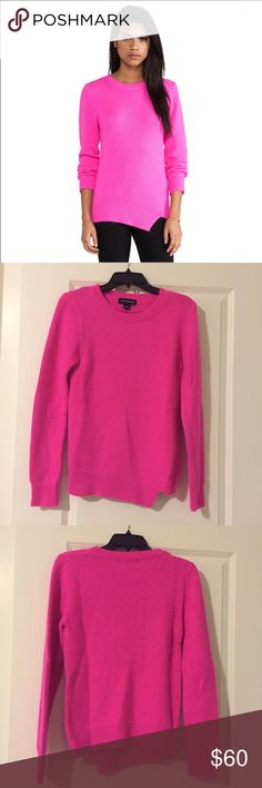 Stylestalker angora/wool sweater Beautiful and cozy hot pink sweater by Stylestalker. Angora/ wool blend and only worn once. Perfect condition Stylestalker Sweaters Crew & Scoop Necks