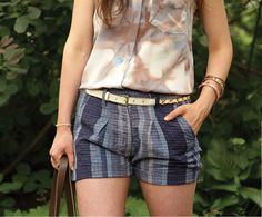 Ethical and eco-friendly street style: Ace & Jig Hall shorts in Denim.