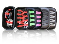 Here's a media case that will organize your chargers, headphones, and electronic cords. Don't forget to pack it in your carryon luggage, and then when you're traveling you can use the case as a stand to prop up your cellphone, ipad, or kindle and watch a movie with ease! Make traveling easier! Travel with the ANGLZ Media Case.
