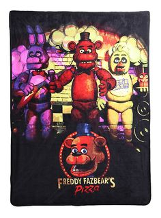 Five Nights at Freddy's Fleece Throw,hot topic $17.50