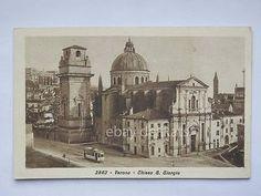 VERONA TRAM Tramway chiesa S. Giorgio vecchia cartolina