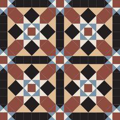 Grasmere (A) Design - Victorian Floor tiles Geometric Tiles, Encaustic Tile, Adhesive Tiles, Victorian Design, Style Tile, Tile Patterns, Home Decor Trends, Interior And Exterior, Tile Floor