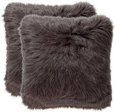 Safavieh Pillows Plush Faux Shadow Fox Fur Pillows (Set of 2)