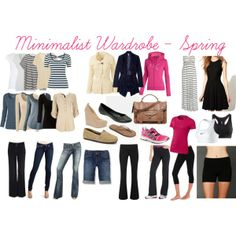 "summer minimalist wardrobe  | My Minimalist Wardrobe - Spring"" by mommymakinghome on Polyvore"