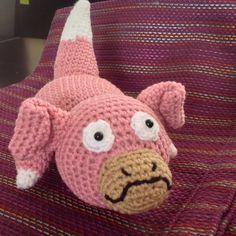 Pokemon Slowpoke tejido crochet amigurumi