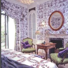 Elsie De Wolfe Bedroom Purple Bedding American Interior Victorian Interiors