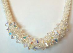 Kumihimo Necklace with Swarovski Elements PATTERN only (PDF file) by sparkleezcrystals on Etsy