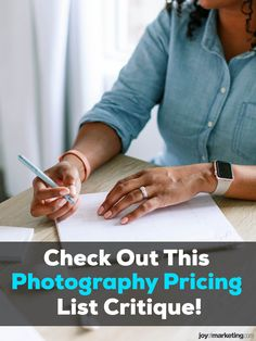 One of the scariest things about running a photography business is figuring out your photography pricing.Once you've done all the math and know how to profitably price your photography, the next step is to present and display your prices so that your clients see you're worth what you're asking to be paid.Below, I'm critiquing the photography pricing list of one of my Simplified Photography Pricing Formula students, Ciera Kizerian. Photography Price List, Critique, Photography Business, Business Tips, Students, Branding, Joy, Display, Teaching