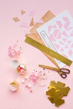 DIY Modern Hexagon Advent Calendar   Oh Happy Day!