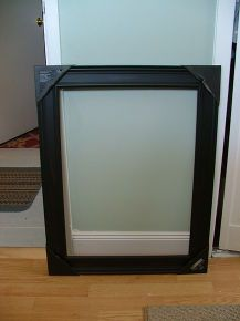 old medicine cabinet gets a facelift for 30, cabinets, Lightweight open picture frame from craft store