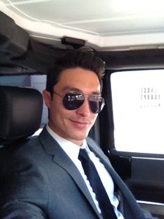 Daniel Henney suit & raybans. Inspiration for one of my heroes...