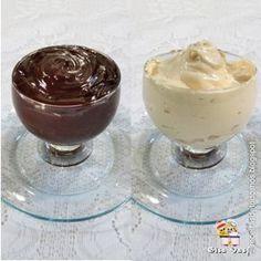Ganaches de chocolate branco e escuro