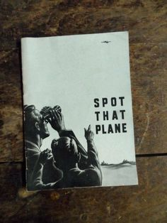 1940's SPOT That PLANE Promotional Booklet Given Out by Mississippi Valley Trust Co. Bank  via Orphaned Treasures Etsy