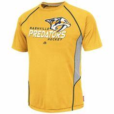 Majestic Nashville Predators Overtime Victory Performance T-Shirt - Gold 51175cb57
