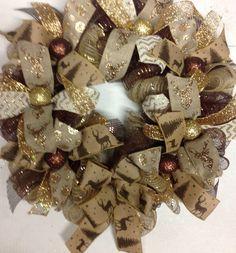 A Deer Hunters Christmas Wreath by Katskraftymeow on Etsy