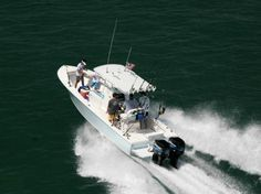 Rod rocket launchers are a handy feature on a well equipped Florida Keys fishing boat