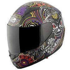 Speed & Strength Womens Killer Queen Full Face Street Motorcycle Helmet XS Black