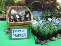 "Warrior cat birthday party-- ""Become a Warrior"" station #lolatangled"