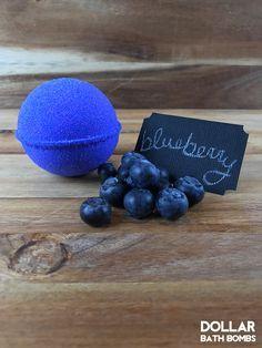 Blueberry Bath Bomb from Dollar Bath Bombs. Bath Fizzies, Bath Soap, Bath Salts, Homemade Beauty, Diy Beauty, Handy Gadgets, Bath Booms, Bath Bomb Recipes, Soap Recipes