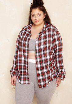 Plaid Shirt £38.00  Plus Size Fashion ♥ | One One Three | Sizes 18-26
