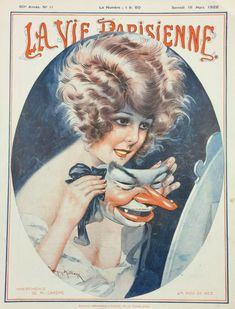 La Vie Parisienne, March 1922 (Cover illustration by Maurice Milliere)