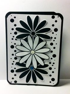 Black and White flowers by Glitter Goddess - Cards and Paper Crafts at Splitcoaststampers