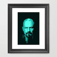 Breaking Bad - Heisenberg Framed Art Print by Bright Enough ▲ - $33.00