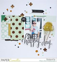Sweet Happy Day by @maldonadomas for @papercamellia using #maggieholmes @crate_paper