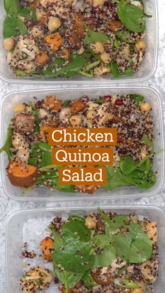 Plats Healthy, Healthy Dishes, Healthy Snacks, Healthy Eating, Diet Recipes, Chicken Recipes, Cooking Recipes, Healthy Recipes, Chicken Quinoa Salad
