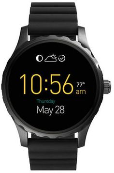 Fossil Q Marshal Silicone Strap Touch Screen Smart Watch #watches #womens