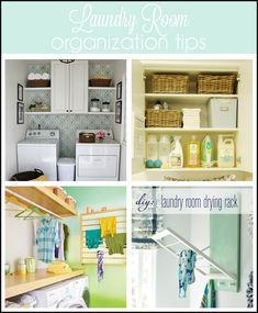 Laundry organization collage-add a splash of color to your space