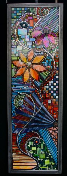 Tiffany Stained Glass Window Panels for 2020 Mosaic Artwork, Mosaic Wall, Mosaic Glass, Mosaic Tiles, Mosaic Crafts, Mosaic Projects, Art Projects, Stained Glass Panels, Stained Glass Art