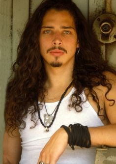 Chris Cornell, always and forever, the voice that transcends... + i loved how hot he was back when this pic was taken ;->