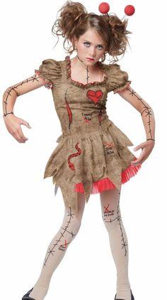 VooDoo Dolly Costume Voo Doo Broken Doll Tween Teen Girls Size | eBay