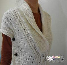 Ravelry: Tabard Vest / Shawl Collar Slipover pattern by Lion Brand Yarn