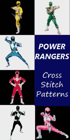 Power Ranger Cross Stitch Patterns - nerdstitch.com