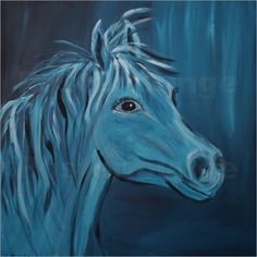 Christine Bässler - Pferd blau
