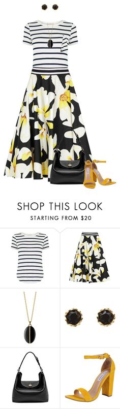 """Floral Skirt for Spring"" by dawn-scott ❤ liked on Polyvore featuring Oasis, Alice + Olivia, Monica Rich Kosann, Sam Edelman, Mulberry and Steve Madden"