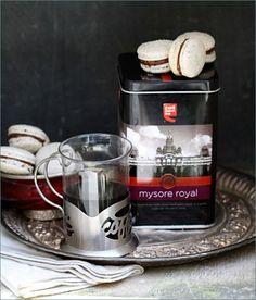 Mysore Royal Coffee Macarons with Bittersweet Chocolate & Coffee Buttercream